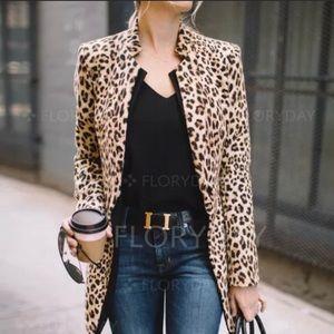 Leopard Print Jacket Lightweight NWT